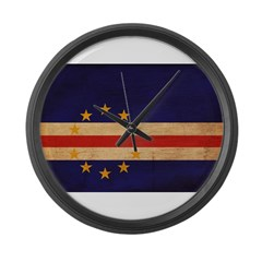 Cape Verde Flag Large Wall Clock