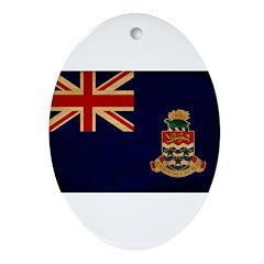 Cayman Islands Flag Ornament (Oval)