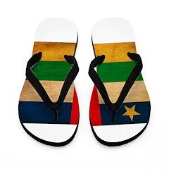 Central African Republic Flag Flip Flops