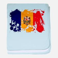 Moldova Flag baby blanket