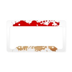 Monaco Flag License Plate Holder