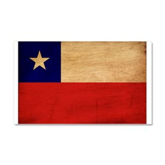 Chile Flag Car Magnet 20 x 12