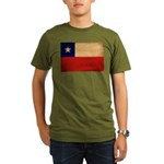Chile Flag Organic Men's T-Shirt (dark)
