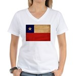 Chile Flag Women's V-Neck T-Shirt