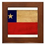 Chile Flag Framed Tile