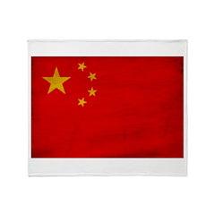 China Flag Throw Blanket