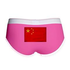 China Flag Women's Boy Brief