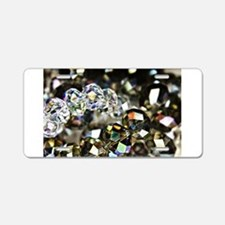 Sparkling Beads Aluminum License Plate