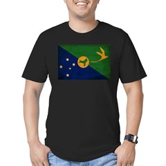 Christmas Island Flag Men's Fitted T-Shirt (dark)