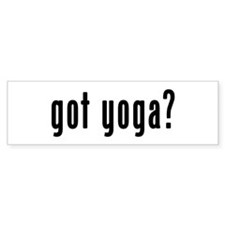 GOT YOGA Bumper Sticker