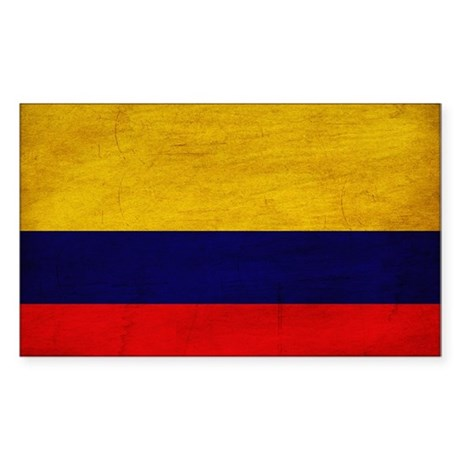 Colombia Flag Sticker (Rectangle 50 pk)