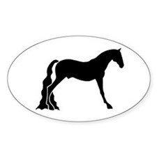 saddle horse Oval Bumper Stickers