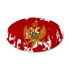 Montenegro Flag 38.5 x 24.5 Oval Wall Peel