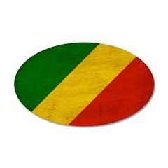 Congo Republic Flag 22x14 Oval Wall Peel