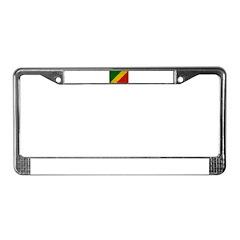 Congo Republic Flag License Plate Frame