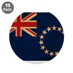 "Cook Islands Flag 3.5"" Button (10 pack)"