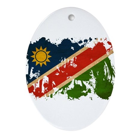 Namibia Flag Ornament (Oval)