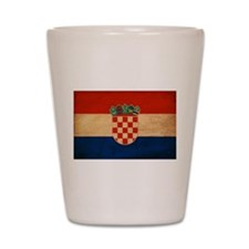 Croatia Flag Shot Glass