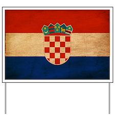 Croatia Flag Yard Sign