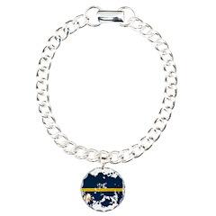 Nauru Flag Bracelet