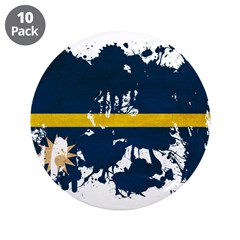 "Nauru Flag 3.5"" Button (10 pack)"