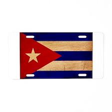 Cuba Flag Aluminum License Plate