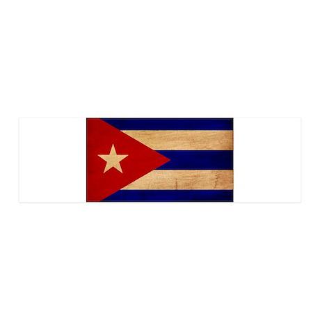 Cuba Flag 21x7 Wall Peel