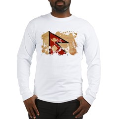 Nepal Flag Long Sleeve T-Shirt