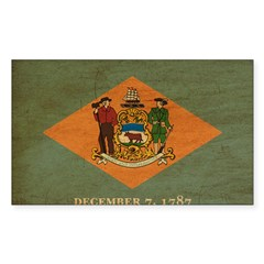 Delaware Flag Decal