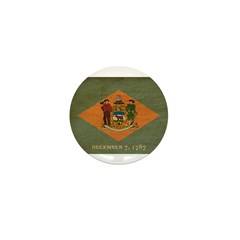 Delaware Flag Mini Button (10 pack)