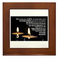 Inner Flame Framed Tile