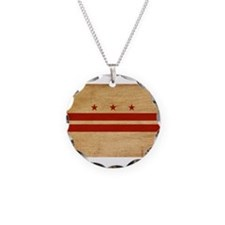 District of Columbia Flag Necklace