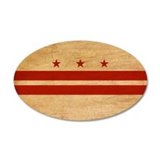 District of Columbia Flag 22x14 Oval Wall Peel