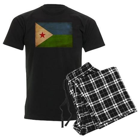Djibouti Flag Men's Dark Pajamas