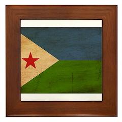 Djibouti Flag Framed Tile