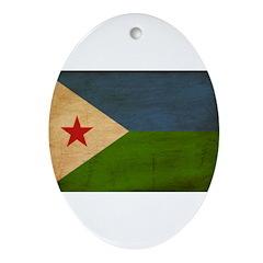 Djibouti Flag Ornament (Oval)