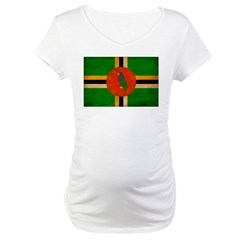 Dominica Flag Maternity T-Shirt
