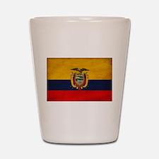 Ecuador Flag Shot Glass