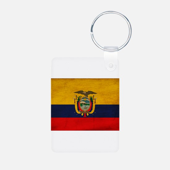Ecuador Flag Aluminum Photo Keychain