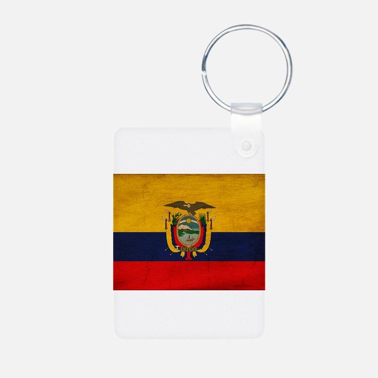 Ecuador Flag Aluminum Photo Keychain