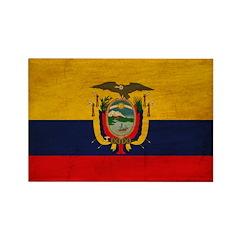 Ecuador Flag Rectangle Magnet (100 pack)