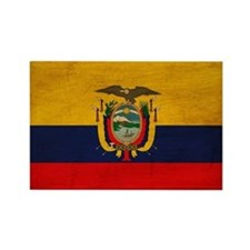 Ecuador Flag Rectangle Magnet