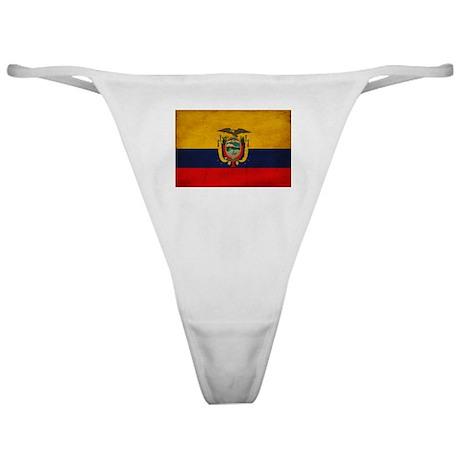 Ecuador Flag Classic Thong