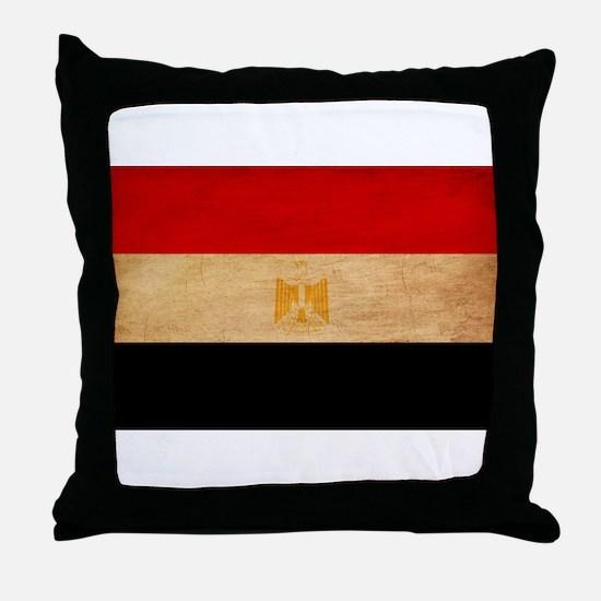 Egypt Flag Throw Pillow
