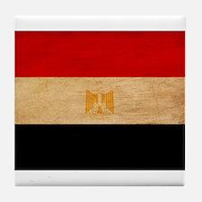 Egypt Flag Tile Coaster