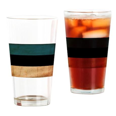 Estonia Flag Drinking Glass