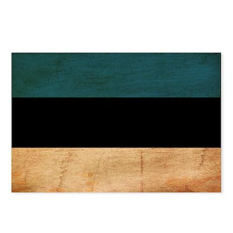 Estonia Flag Postcards (Package of 8)