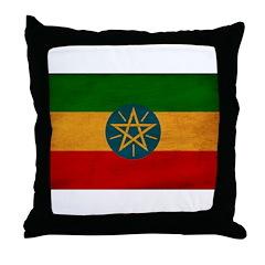 Ethiopia Flag Throw Pillow