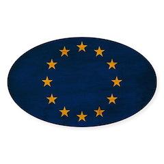 European Union Flag Sticker (Oval 50 pk)