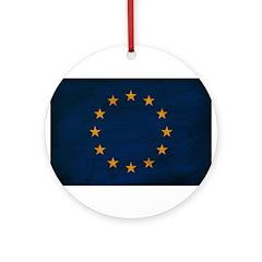 European Union Flag Ornament (Round)